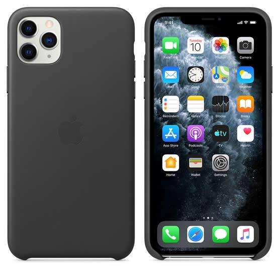 Apple Leather Case iPhone 11 Pro Max - Black