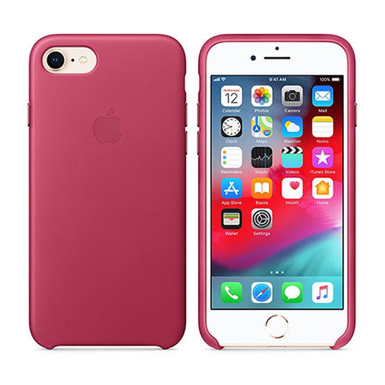 Apple Leather Case iPhone 8/7 - Pink Fucsia