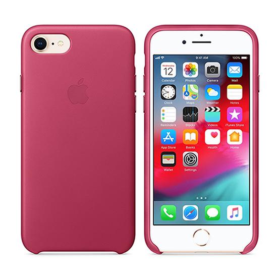 Apple Leather Case iPhone 8/7/ SE 2- Pink Fucsia