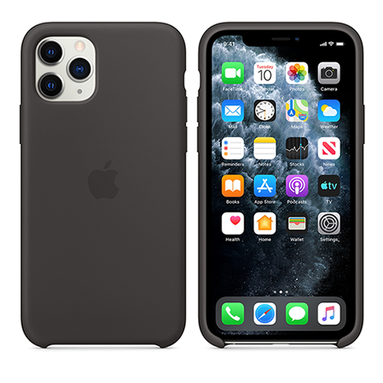 Apple Silicone Case iPhone 11 Pro - Black