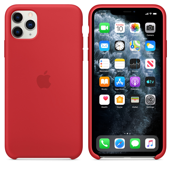 Apple Silicone Case iPhone 11 Pro Max - Red