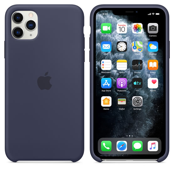 Apple Silicone Case iPhone 11 Pro Max - Midnight Blue