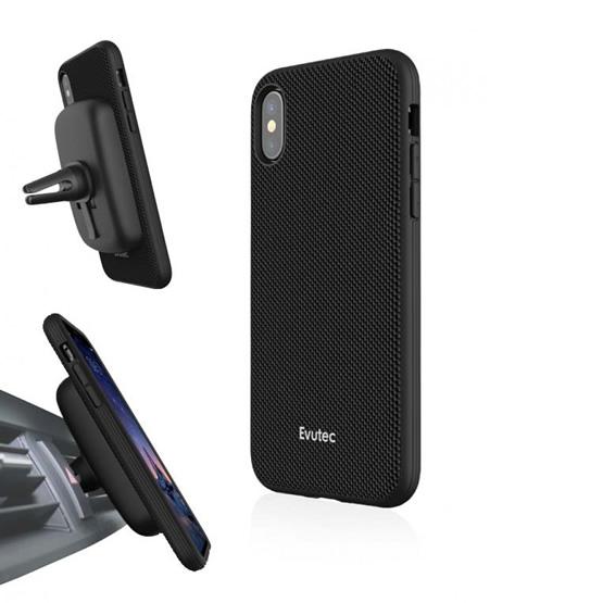Evutec Aergo Case iPhone X/XS + Vent Mount -  Black