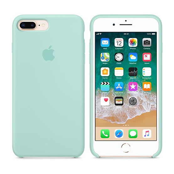 Apple Silicone Case iPhone 8/7 Plus - Marine Green