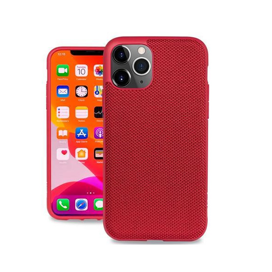 Evutec Ballistic Nylon Case iPhone 11 Pro Max + Vent Mount - Red