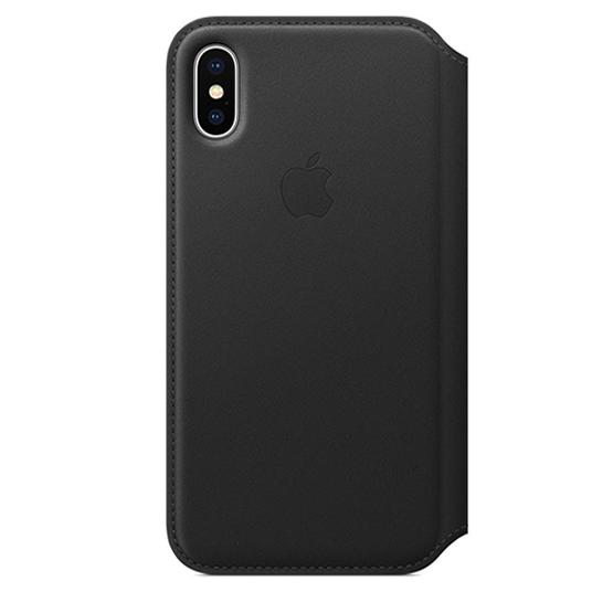 Apple Leather Folio iPhone X - Black