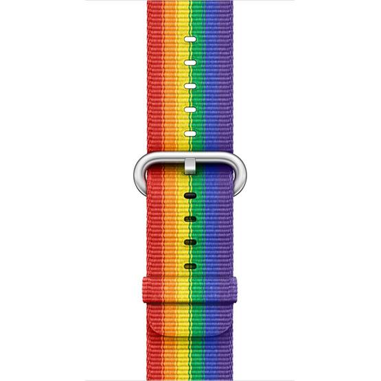 Apple Watch Woven Nylon Band 38mm - Rainbow Pride
