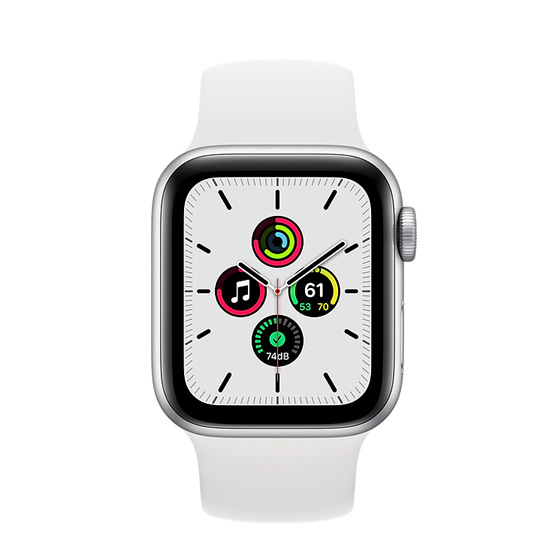Apple Watch SE GPS - 40mm - Silver/White Sport Band