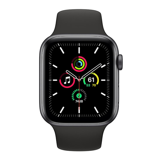 Apple Watch SE GPS - 44mm - Space Gray/Black Sport Band