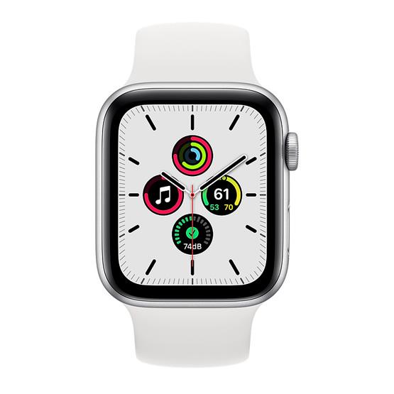 Apple Watch SE GPS - 44mm - Silver/White Sport Band