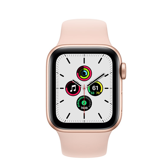 Apple Watch SE GPS - 40mm - Gold/Sand Pink Sport Band