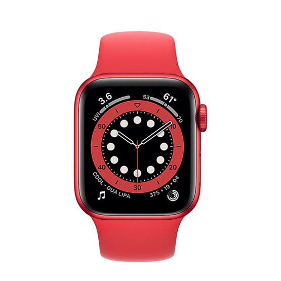 Apple Watch Series 6 GPS - 40mm - Red/Red Sport Band