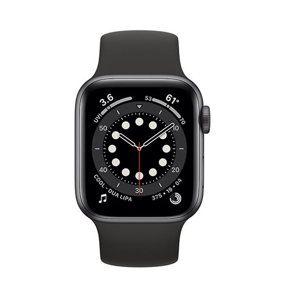 Apple Watch Series 6 GPS - 40mm - Space Gray/Black Sport Band