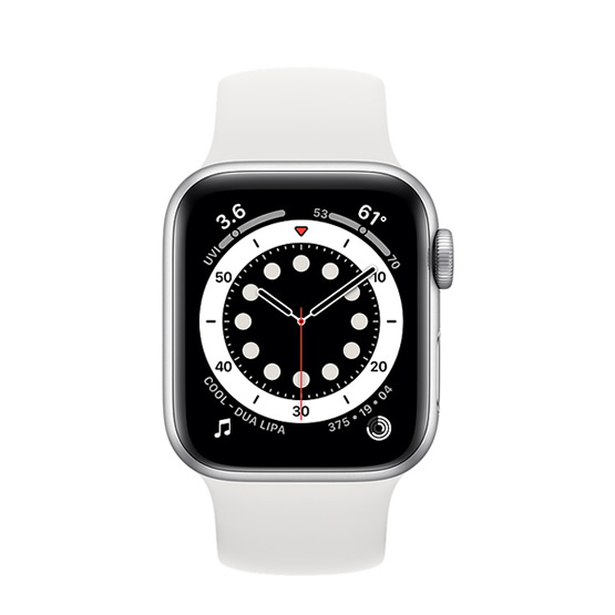 Apple Watch Series 6 GPS - 40mm - Silver/White Sport Band