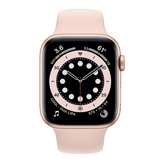 Apple Watch Series 6 GPS - 44mm - Gold/Pink Sand Sport Band