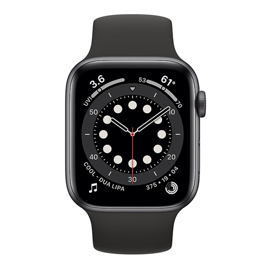 Apple Watch Series 6 GPS - 44mm - Space Gray/Black Sport Band