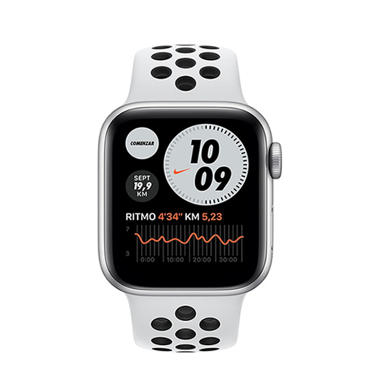 Apple Watch Series 6 GPS Nike - 40mm - Silver/Pure Platinum Sport Band