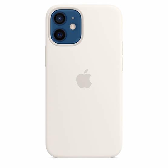 Apple Silicone Case iPhone 12 Mini - White