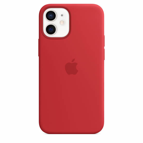 Apple Silicone Case iPhone 12 Mini - Red