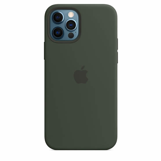 Apple Silicone Case iPhone 12/12 Pro - Cyprus Green
