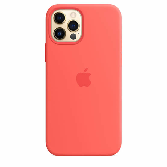 Apple Silicone Case iPhone 12/12 Pro - Pink Cytrus