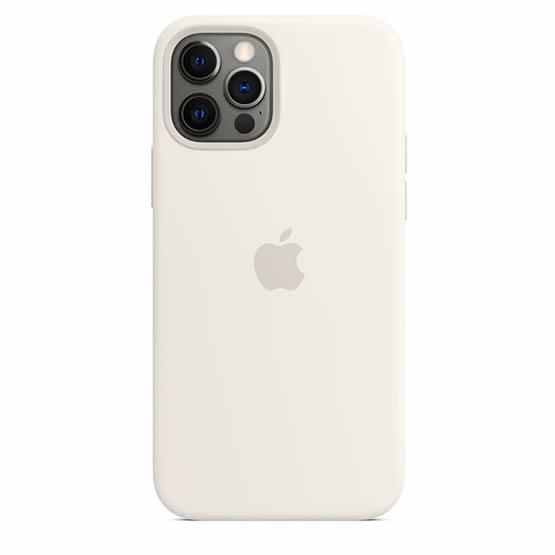 Apple Silicone Case iPhone 12/12 Pro - White