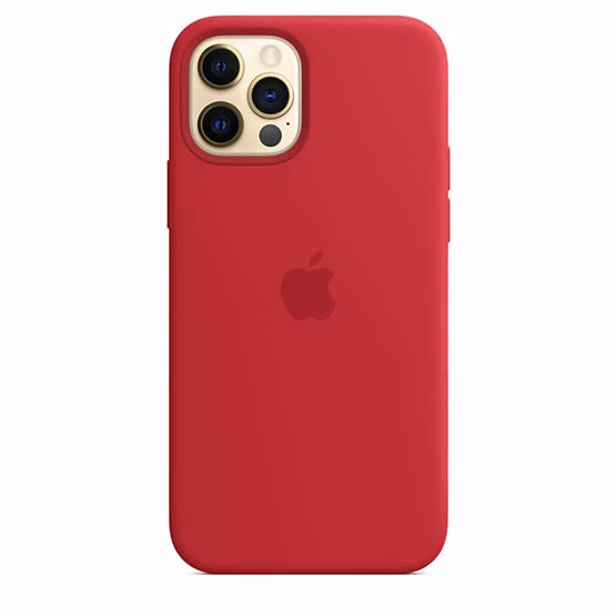 Apple Silicone Case iPhone 12 Pro Max - Red