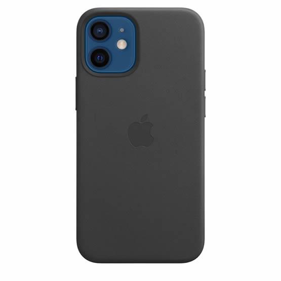Apple Leather Case iPhone 12 Mini - Black