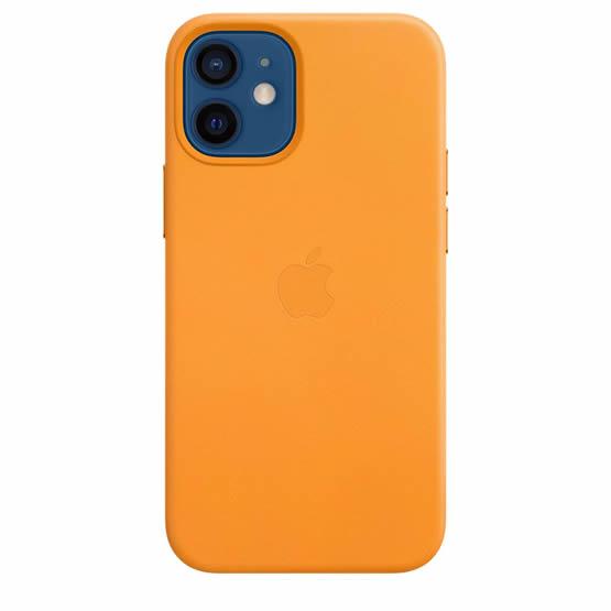 Apple Leather Case iPhone 12 Mini - California Poppy