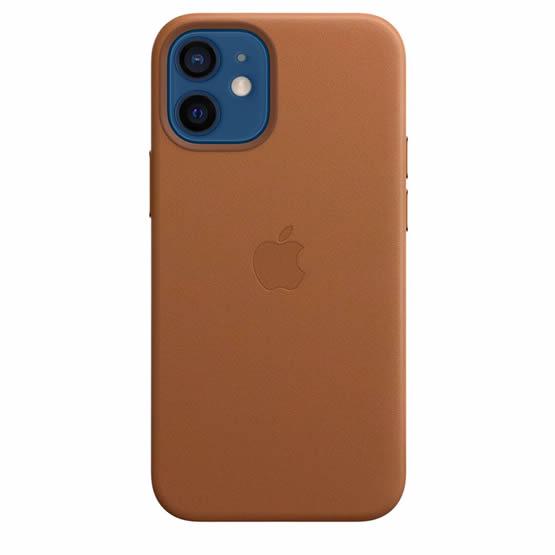 Apple Leather Case iPhone 12 Mini - Saddle Brown
