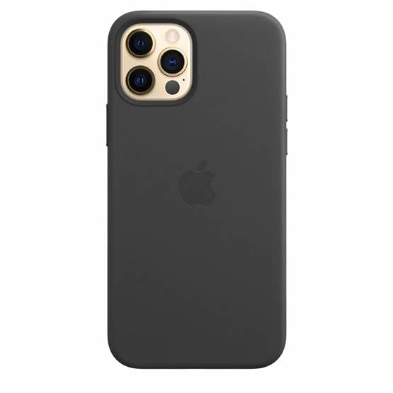 Apple Leather Case iPhone 12/12 Pro - Black