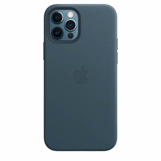 Apple Leather Case iPhone 12/12 Pro - Baltic Blue