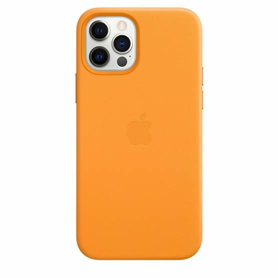 Apple Leather Case iPhone 12/12 Pro - California Poppy