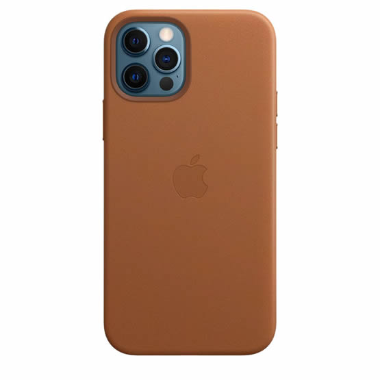 Apple Leather Case iPhone 12/12 Pro - Saddle Brown