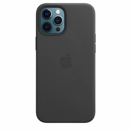 Apple Leather Case iPhone 12 Pro Max - Black