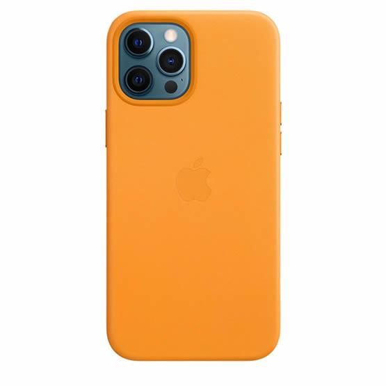 Apple Leather Case iPhone 12 Pro Max - California Poppy