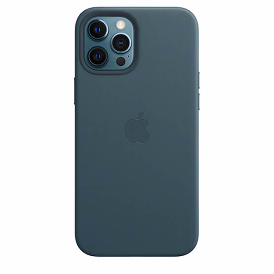 Apple Leather Case iPhone 12 Pro Max - Baltic Blue