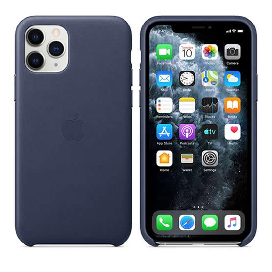 Apple Leather Case iPhone 11 Pro - Midnight Blue