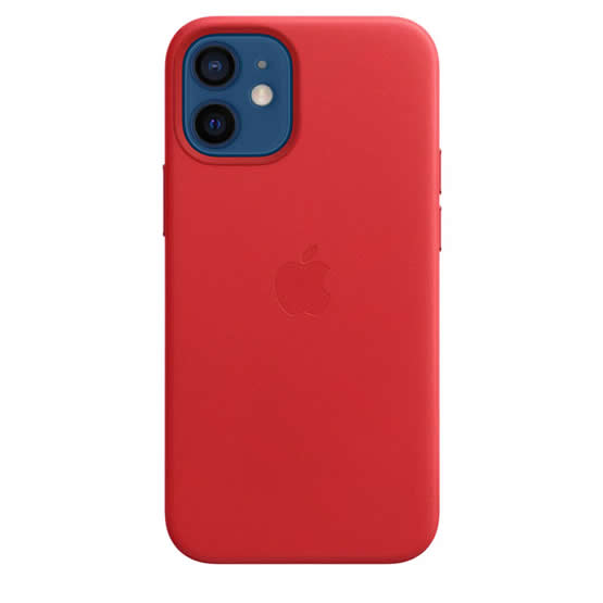 Apple Leather Case iPhone 12 Mini - Red