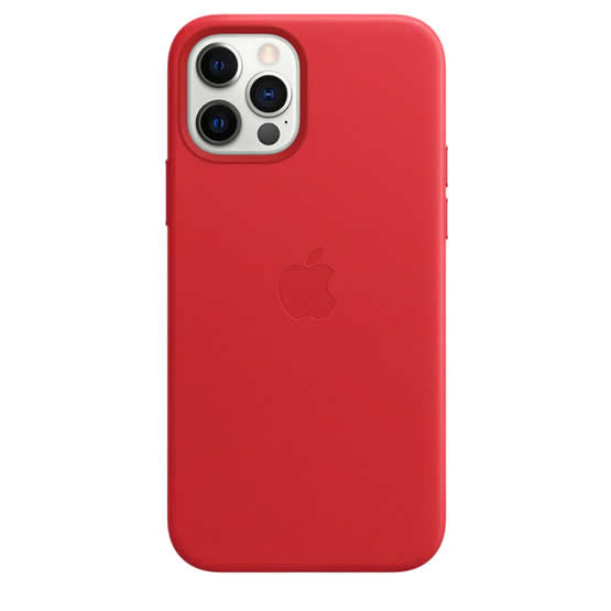 Apple Leather Case iPhone 12 Pro Max - Red