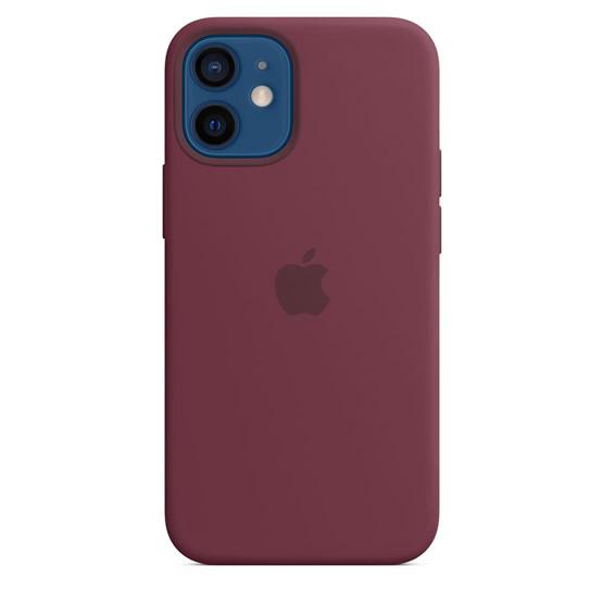 Apple Silicone Case iPhone 12 Mini - Plum