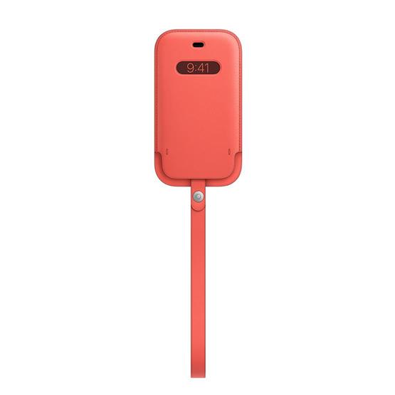 Apple Leather Sleeve iPhone 12 Mini - Pink Citrus