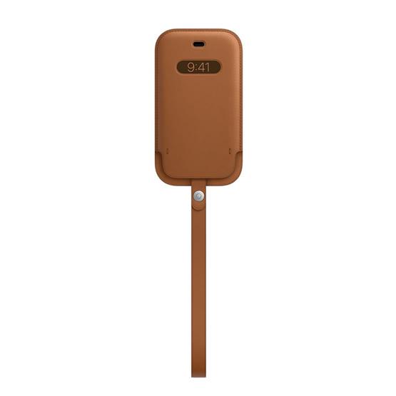 Apple Leather Sleeve iPhone 12 Mini - Saddle Brown