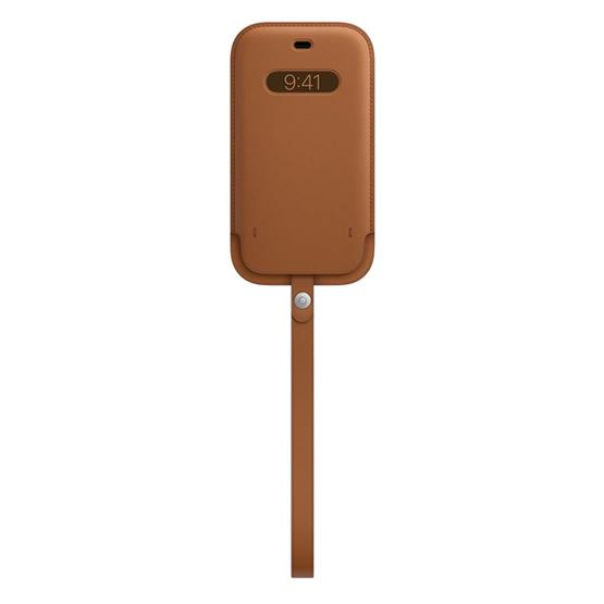 Apple Leather Sleeve iPhone 12/12 Pro - Saddle Brown