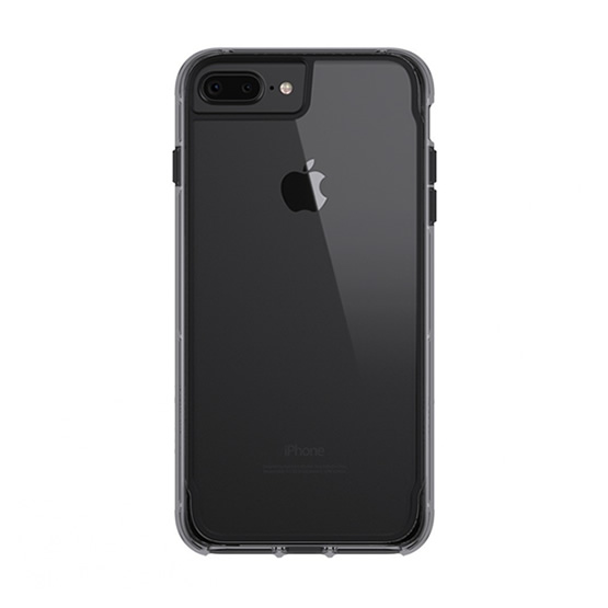 Griffin Survivor Clear iPhone 8/7/6s/6 Plus - Black/Smoke
