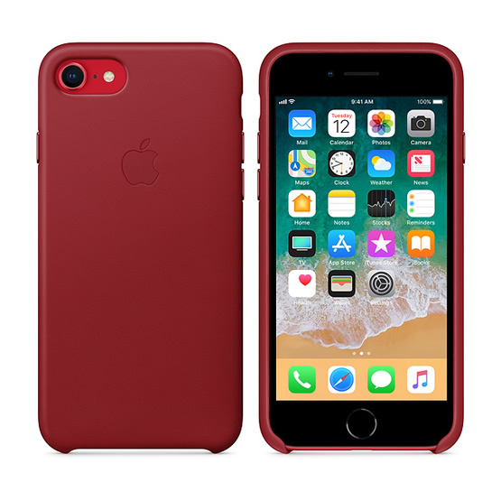Apple Leather Case iPhone 8/7 - Red