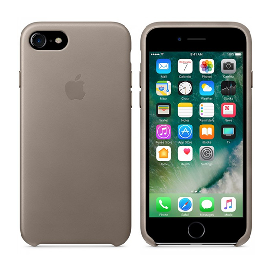 Apple Leather Case iPhone 8/7 - Taupe