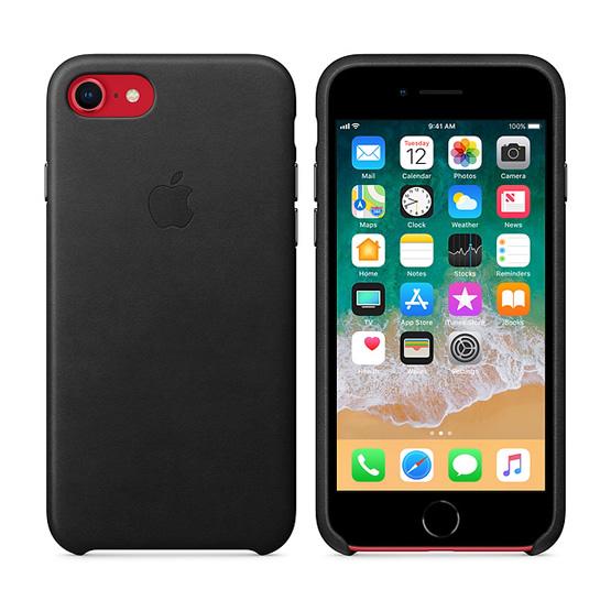 Apple Leather Case iPhone 8/7 - Black
