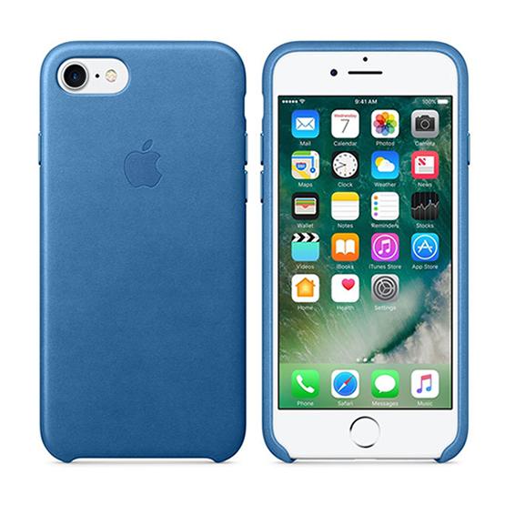 Apple Leather Case iPhone 8/7/ SE 2 - Sea Blue