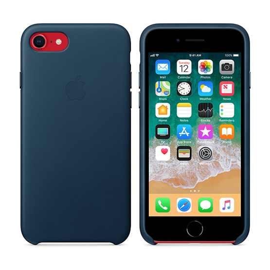 Apple Leather Case iPhone 8/7 - Midnight Blue